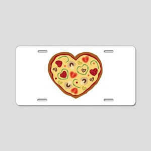 Pizza Heart Aluminum License Plate
