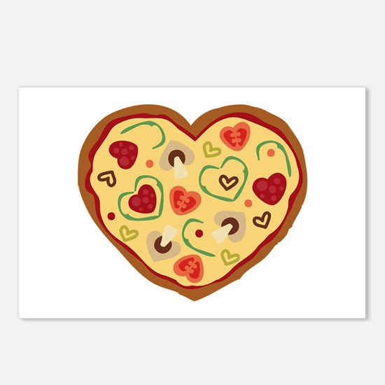 Pizza Heart Postcards (Package of 8)