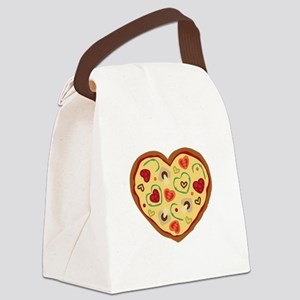 Pizza Heart Canvas Lunch Bag