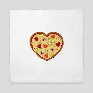 Pizza Heart Queen Duvet