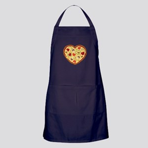 Pizza Heart Apron (dark)