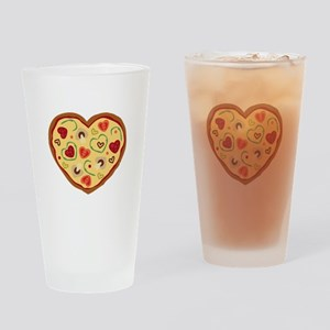 Pizza Heart Drinking Glass
