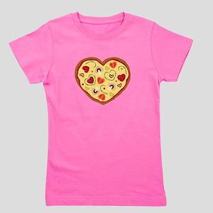Pizza Heart Girl's Tee