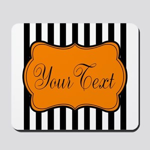 Personalizable Orange and Black Script 2 Mousepad