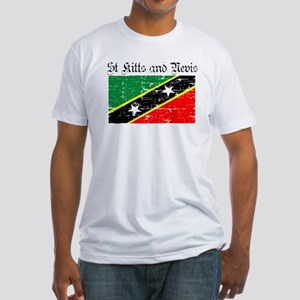 Saint Kitts and Nevis Flag Fitted T-Shirt