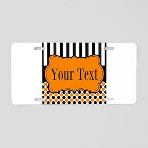 Personalizable Orange and Black Aluminum License P