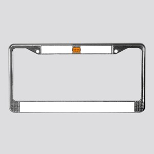 Personalizable Orange and Black License Plate Fram