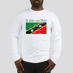 Saint Kitts and Nevis Flag Long Sleeve T-Shirt
