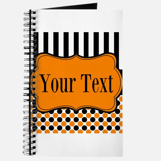 Personalizable Orange and Black Journal