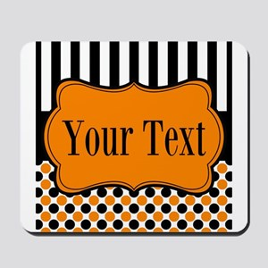 Personalizable Orange and Black Mousepad