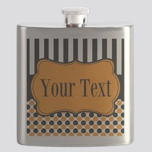 Personalizable Orange and Black Flask