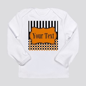 Personalizable Orange and Black Long Sleeve T-Shir