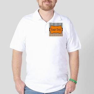 Personalizable Orange and Black Golf Shirt