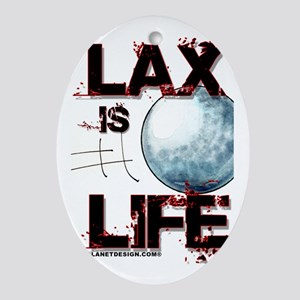Lax Is Life Oval Ornament