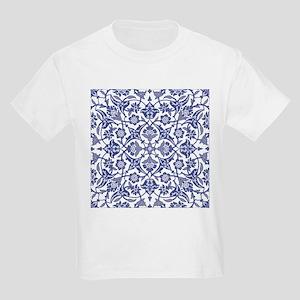 Indigo Blue Vintage flora design T-Shirt
