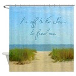 Beach Sea Inspirational Quote Shower Curtain