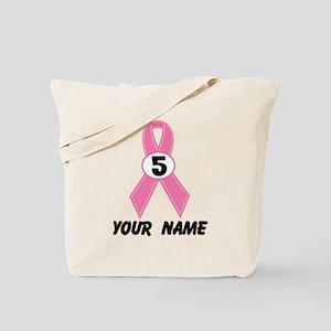 Breast Cancer 5 Year Survivor Tote Bag