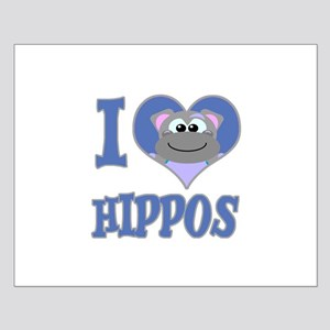I Love (Heart) Hippos Small Poster