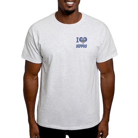 I Love (Heart) Hippos Light T-Shirt
