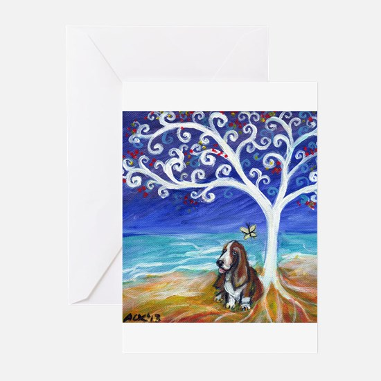 Basset hounds Greeting Cards (Pk of 20)