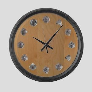 D20 Set Large Wall Clock