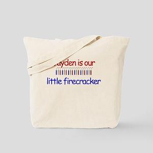 Jayden Firecracker Tote Bag