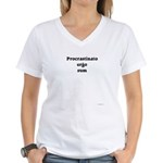 I procrastinate ergo I am Women's V-Neck T-Shirt