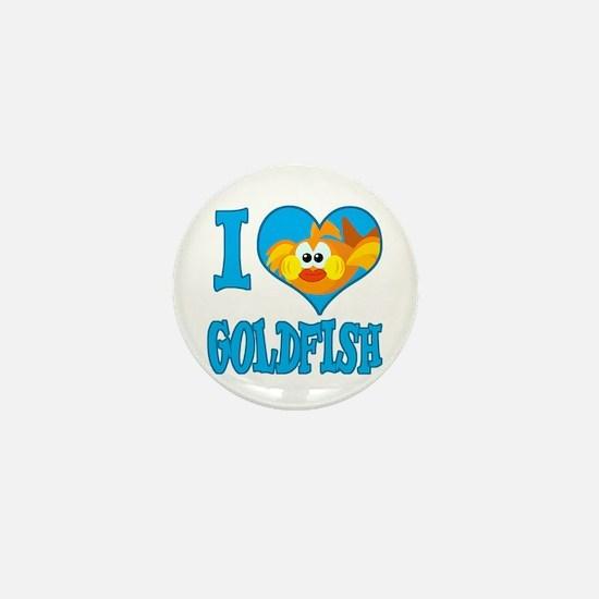 I Love (Heart) Goldfish Mini Button
