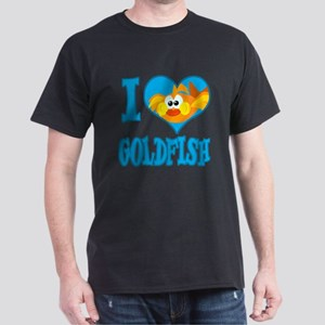 I Love (Heart) Goldfish Dark T-Shirt