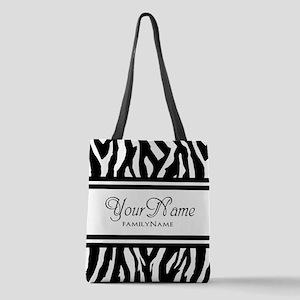 Custom Animal Print Polyester Tote Bag
