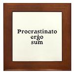 I procrastinate ergo I am Framed Tile