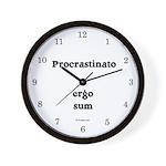 I procrastinate ergo I am Wall Clock