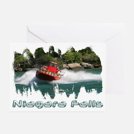 Niagara Jet Boat Greeting Cards (Pk of 10)