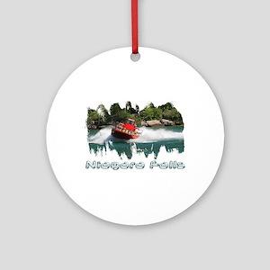 Niagara Jet Boat Ornament (Round)