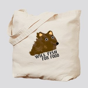 Will Fish For Food Tote Bag