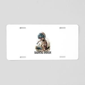 radical tribesman Aluminum License Plate