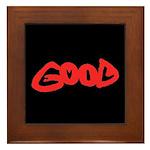 Good vs Evil ~ evil red Framed Tile