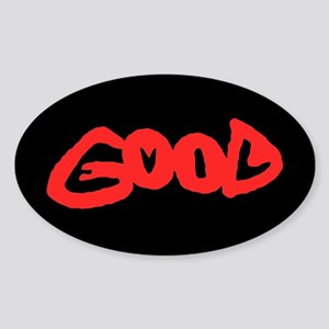 Good vs Evil ~ evil red Oval Sticker