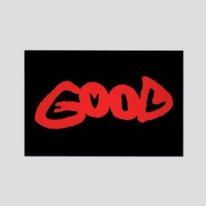 Good vs Evil ~ evil red Rectangle Magnet