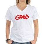 Good vs Evil ~ evil red Women's V-Neck T-Shirt
