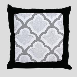 Exclusive Grey Quatrafoil Throw Pillow