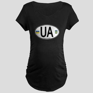 Ukraine Intl Oval Maternity Dark T-Shirt