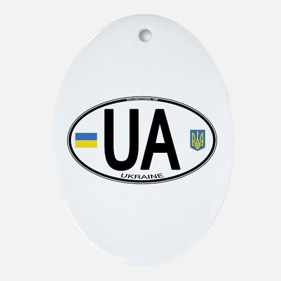 Ukraine Intl Oval Oval Ornament