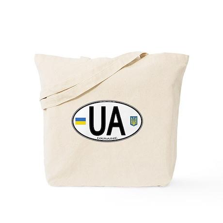 Ukraine Intl Oval Tote Bag