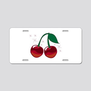 Sparkling Cherries Aluminum License Plate