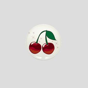 Sparkling Cherries Mini Button