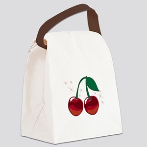 Sparkling Cherries Canvas Lunch Bag