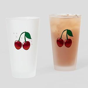 Sparkling Cherries Drinking Glass