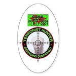 Hunting Hunting Oval Sticker