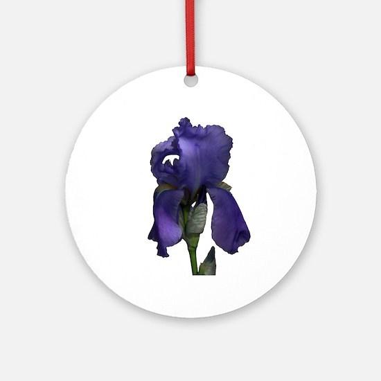 Purple Iris Ornament (Round)
